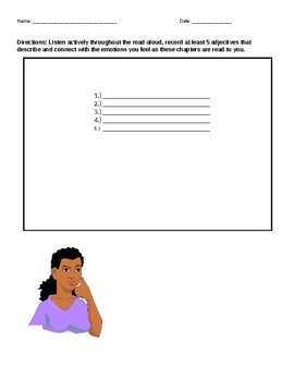 Read Aloud Active Listening/Active Reading Jot Sheet