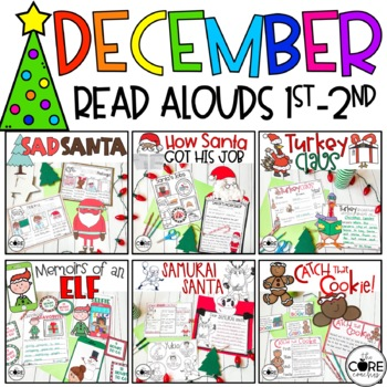 Read-Aloud Activities: December Bundle for Grades 1-2