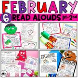 Read-Aloud Activities: February Bundle for Grades 1-2