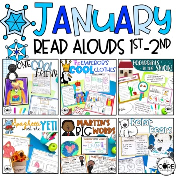 January Read-Aloud Bundle: Interactive Lesson Plans Curriculum