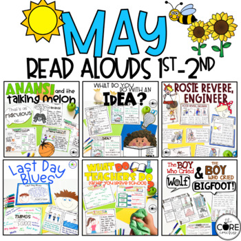 May Read-Alouds | End of School | Distance Learning | for Google Slides | Seesaw