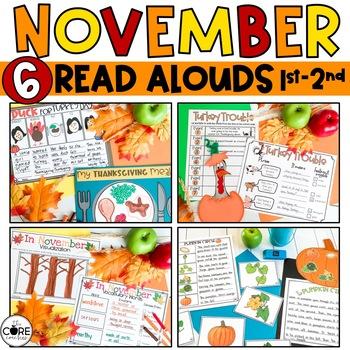 Read-Aloud Activities: November Bundle for Grades 1-2