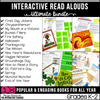 Read Aloud Bundle for the Year: Interactive Lesson Plans and Activities