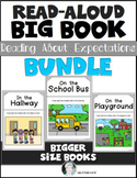 Read Aloud Big Book Bundle Set Setting Expectations for Behavior in Kindergarten