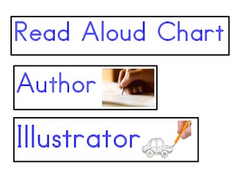 Read Aloud Chart Cards, English for Dual language Classrooms