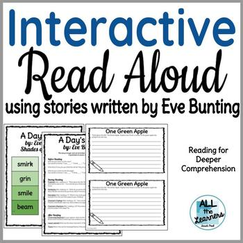 Interactive Read Aloud using Five Eve Bunting Stories