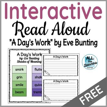 Interactive Read Aloud Using Eve Bunting Stories