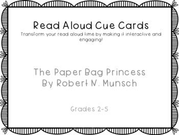 Read Aloud Cue Cards- Paper Bag Princess by Robert Munsch