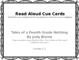 Read Aloud Cue Cards- Tales Of A Fourth Grade Nothing