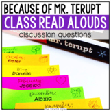 Because of Mr. Terupt: Read Aloud Discussion Questions