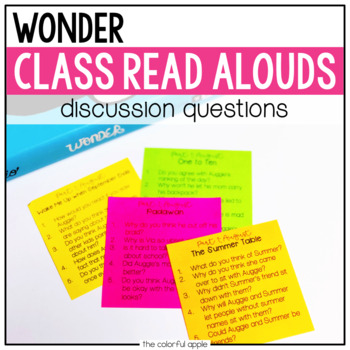 Wonder: Read Aloud Discussion Questions