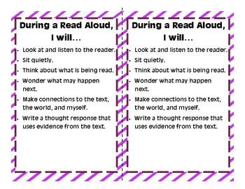 Read Aloud Expectations