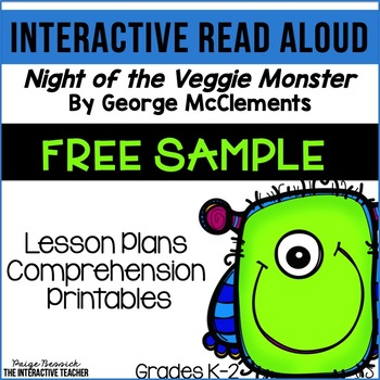 Read Aloud FREEBIE: Night of the Veggie Monster, Interactive Lesson Plans