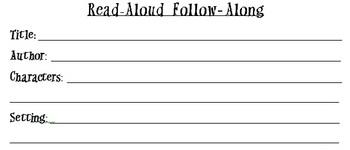 Read Aloud Follow Along Worksheet