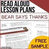 Thanksgiving Read Aloud Freebie: Bear Says Thanks, Interactive Lesson Plans