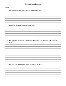 Read Aloud/Guided Reading Plan for The Valentine Star (Reilly Giff) Level M