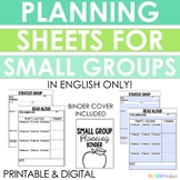 Read Aloud, Guided Reading, and Strategy Group Planning Sh
