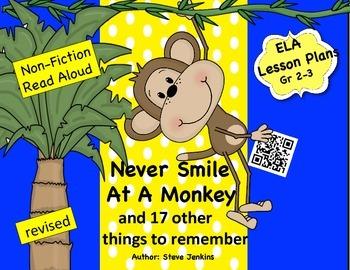 Read Aloud NonFiction Never Smile At a Monkey