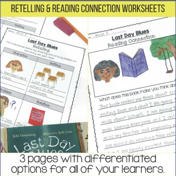 End of the Year Read Aloud: Last Day Blues Lesson Plans and Activities