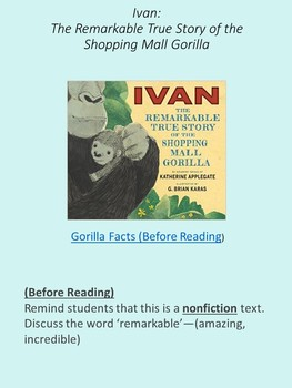 Read Aloud Lesson: Ivan: The Remarkable True Story of a Shopping Mall Gorilla