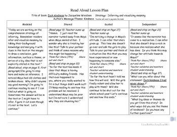 Each Kindness  Interactive Read Aloud Lesson Plan