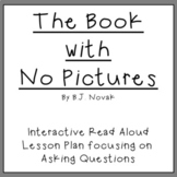 Read Aloud Lesson Plan: The Book With No Pictures