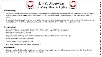 Read Aloud Lesson for Santa's Underwear