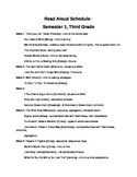 Read Aloud List with Titles and Topics covered
