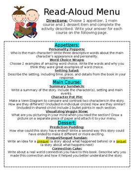 Read-Aloud Menu