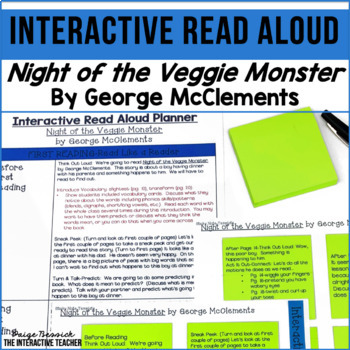 Read Aloud: Night of the Veggie Monster Interactive Read Aloud Lesson Plans