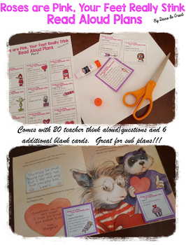 Read Aloud Plans for Valentine's Text (Roses are Pink, Your Feet Really Stink)