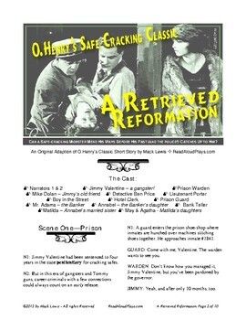"""Reader's Theater: O.Henry's """"A Retrieved Reformation"""" Classic Short Story"""