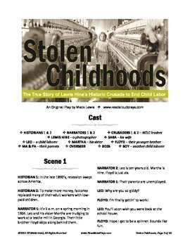 Read Aloud Play: Stolen Childhoods--Lewis Hine's Crusade to End Child Labor