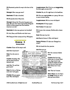 Read Aloud Play: The Newsies--The Newsboy Strike of 1899