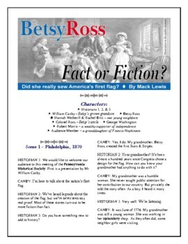 Read Aloud Plays: Betsy Ross Fact or Fiction?