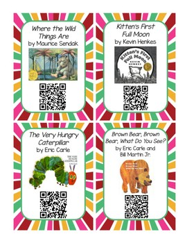 Listen to Reading QR Code Cards - School Favorites Set 1 UPDATED