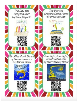 Listen to Reading QR Code Cards - School Favorites Set 1 UPDATED