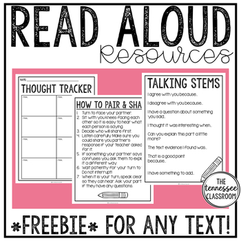 Read Aloud Resources: Think-Pair-Share FREEBIE