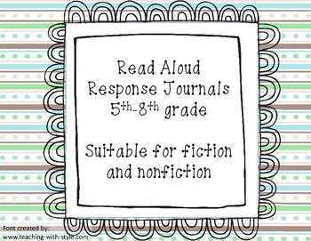 Read Aloud Response Journals