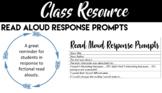 Read Aloud Response Prompts