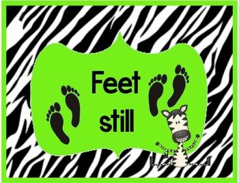 Read Aloud Rules Printable Posters - Zebra