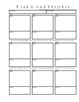 Read Aloud Sketches Form