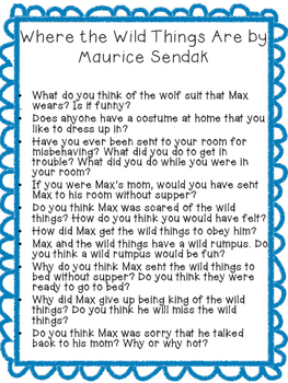 Read Aloud Stories Discusion Questions