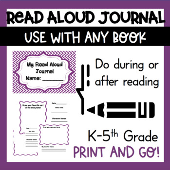 Read Aloud Book Summary Journal ELA Listening Skills K 1st 2nd grade