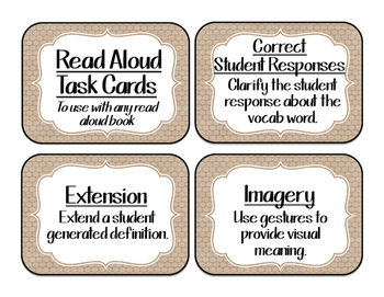 Read Aloud Task Cards FREEBIE
