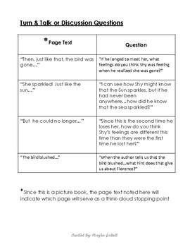 Read-Aloud Tool Kit (Lesson Plan) for Shy by Deborah Freedman