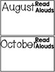 Read Aloud Tracking Pack