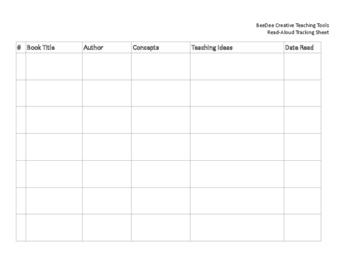 Read-Aloud Tracking Sheet