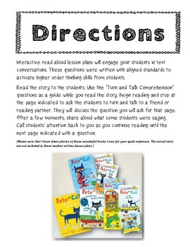 Read Aloud Turn and Talk Comprehension