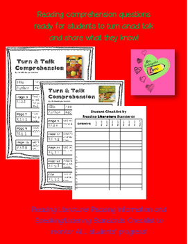 Read Aloud Turn and Talk Comprehension - Apple Theme